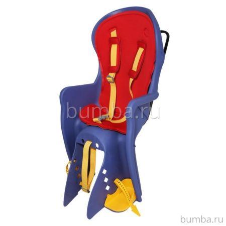 Велокресло на подседельную трубу Bonna до 22 кг (красное)
