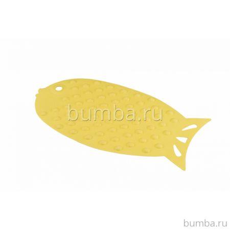 Коврик для купания Happy Baby Fish (желтый)