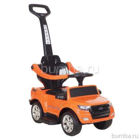 Каталка Ford Ranger с ручкой (оранжевая)