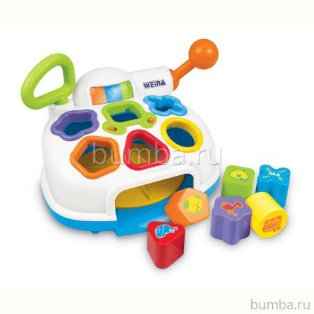 Развивающая игрушка музыкальная Weina Сортер-разбрасыватель