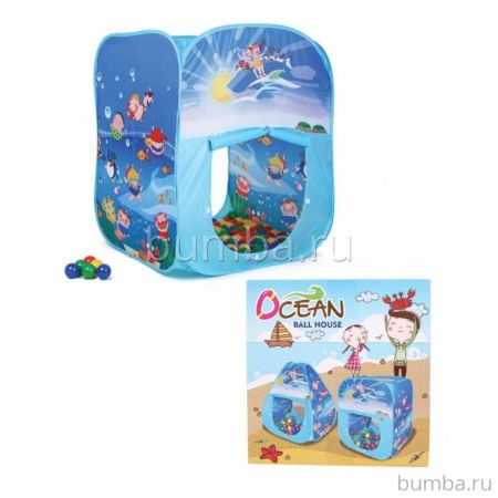Детская палатка Bony Квадрат океан с шарами