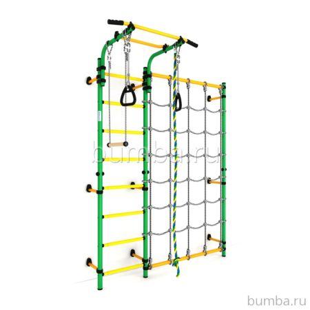 Детский спортивный комплекс Карусель S3 (зелено-желтый)