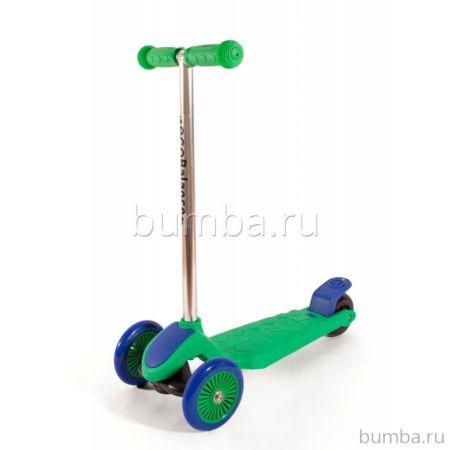 Самокат EcoBalance (зелено-фиолетовый)