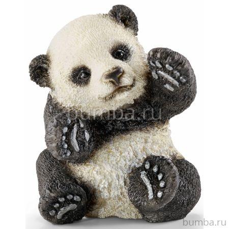 Панда детёныш играет Schleich