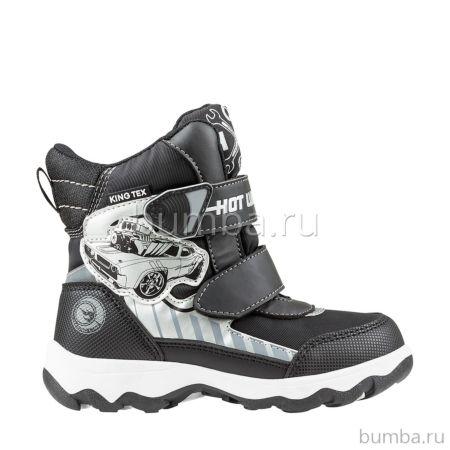 Сапоги детские Hot Wheels 5729B для мальчиков (черные)
