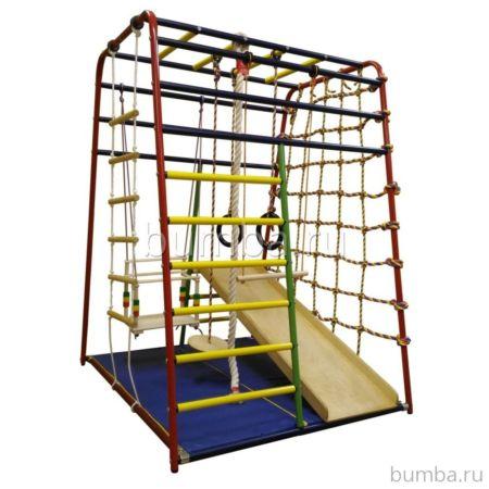 Детский спортивный комплекс Вертикаль Веселый Малыш Next с фанерной горкой
