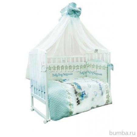 Комплект постельного белья Sweet Baby Treno Blue (7 предметов, сатин)