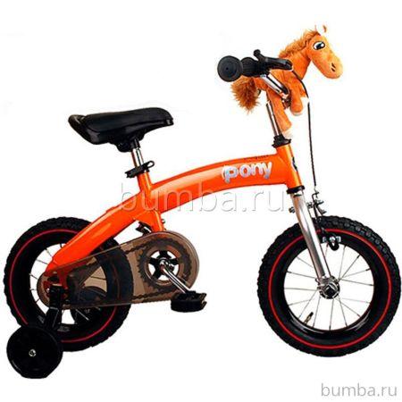 """Беговел-велосипед (2 в 1) Royal Baby Pony 12"""" (оранжевый)"""