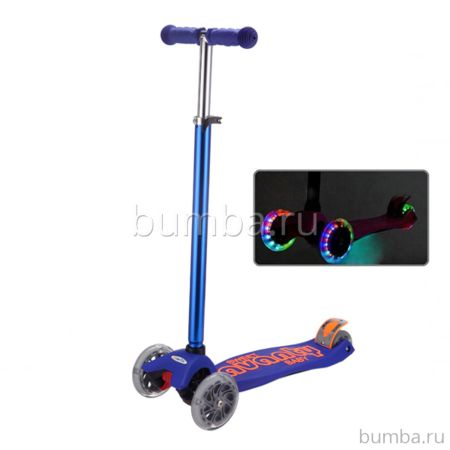 Самокат Sweet Baby Avanti со светящимися колесами Blue