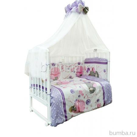 Комплект постельного белья Sweet Baby Elefante Rosa (7 предметов, сатин)
