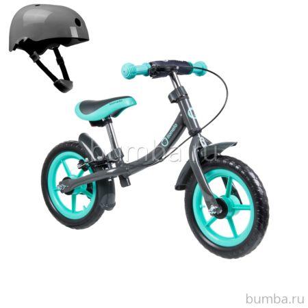 Беговел Lionelo Dan Plus со шлемом безопасности (Бирюзовый)