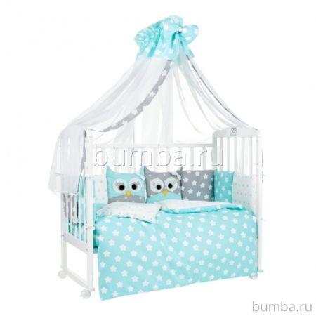 Комплект постельного белья Sweet Baby Uccellino Turchese (7 предметов, бязь)