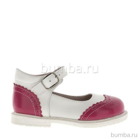Туфли детские Kakadu 6096A для девочек (белый/красный)