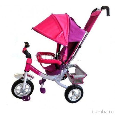 """Трехколесный велосипед Formula Trike F-3000 c ПВХ-колесами 10"""" и 8"""" (розовый)"""