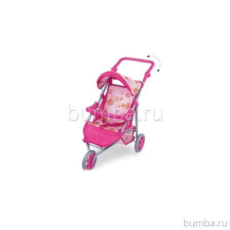 Коляска для куклы Fei Li Toys трость (розовая) FL8164-1