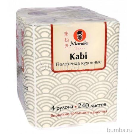Полотенца кухонные бумажные Maneki Dream 2 слоя, 60 л, 4 рул./уп