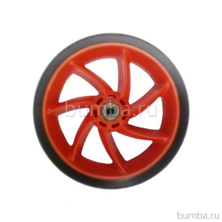 Колесо с подшипниками для самоката 185 мм (красное)