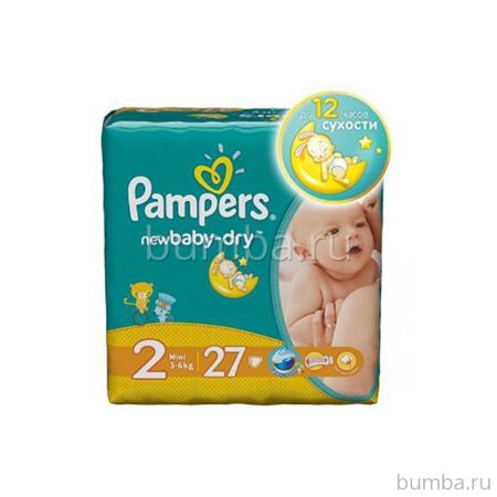 Подгузники Pampers New Baby-Dry Mini (3-6 кг) 27 шт