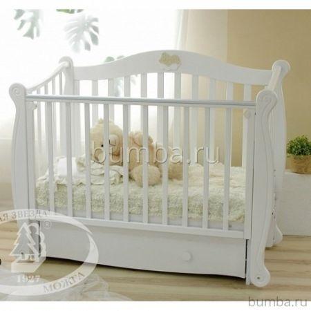 Кроватка детская Можга Валерия С 707 (продольный маятник) (белый)