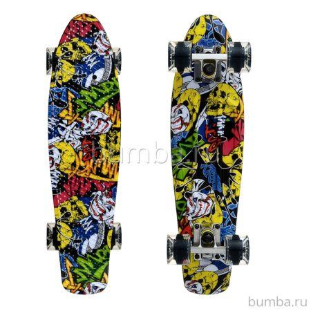 "Мини-круизер Fish Skateboards 22"" Print Cartoon"