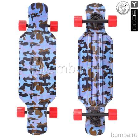 "Лонгборд Y-Scoo Fish Skateboard TIR 31"" с сумкой (army blue)"
