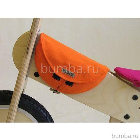Сумочка на раму деревянного беговела Kokua Джинс (оранжевый)