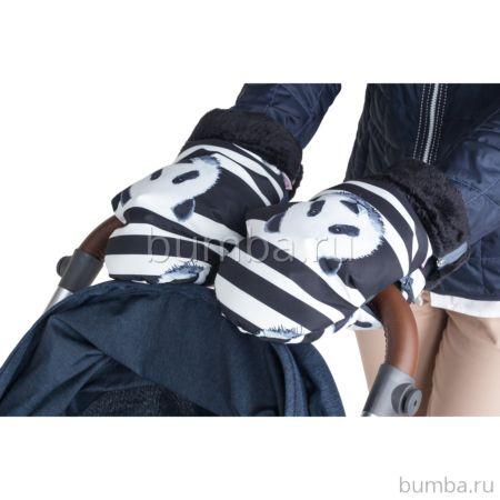 Муфта-рукавички для коляски Mammie (панды)