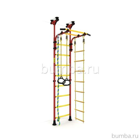 Детский спортивный комплекс Kampfer Strong Kid Ceiling (красный-желтый)