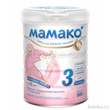 Смесь на козьем молоке Мамако 3 (с 12 мес.) 800 г