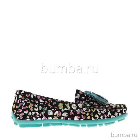Туфли детские Kakadu 6008A для девочек (черный/зеленый)