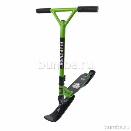 Самокат на лыжах Playshion Extreme Snowscooter (зеленый)