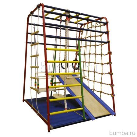 Детский спортивный комплекс Вертикаль Веселый Малыш Next с мягкой горкой