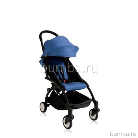 Коляска прогулочная BABYZEN YoYo+ на чёрной раме (Голубой)
