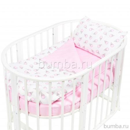 Комплект постельного белья Sweet Baby Yummy Rosa (4 предмета, бязь)