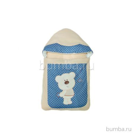 Комплект на выписку демисезонный Alis Мишки-шалунишки (8 предметов) (синий)