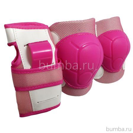 Комплект защиты 3 в 1 Спортивная Коллекция JR Pad S (розовый)