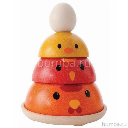 Развивающая игрушка PlanToys Сортер Куриное гнездо