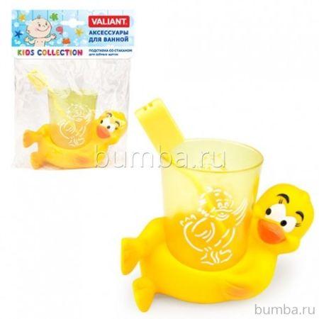 Подставка Valiant со стаканом для зубных щеток Утята