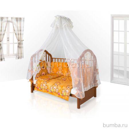 Комплект постельного белья Eco Line Fabric Забавные Зверята 140х70см (6 предметов) микс 1