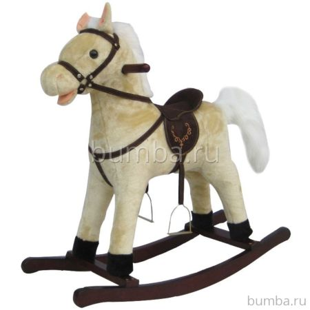 Лошадка-качалка BabyMix Oscar Yasny (белая)