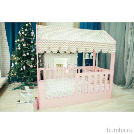 Кроватка-домик Мир Мебели (розовая)