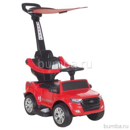 Электроминикар Ford Ranger с ручкой (красный)
