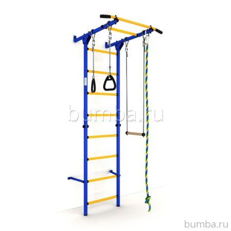 Детский спортивный комплекс Карусель S1 Эконом (сине-желтый)