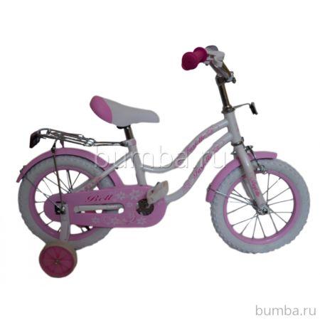 "Детский велосипед Farfello Bell YF-011 16"" (Бело-розовый)"
