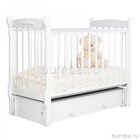 Кроватка детская Можга Артём С579 (продольный маятник) (белый)