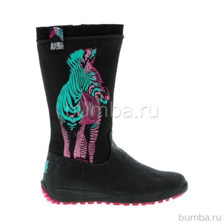 Сапоги детские Kakadu Animal Planet 5602A для девочек (черные)