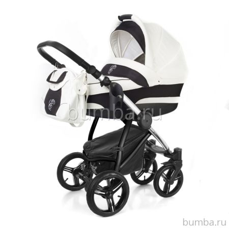 Коляска 2 в 1 Esspero Newborn Lux Chrome White