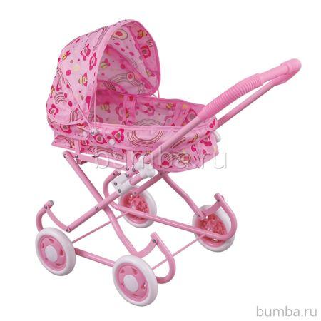 Коляска для куклы Fei Li Toys (розовая) FL738