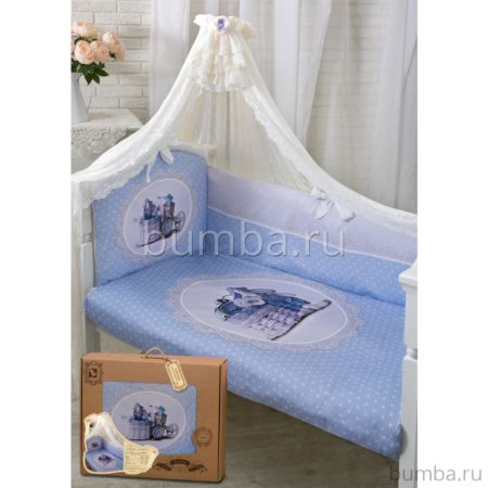 Комплект постельного белья Золотой Гусь Sweet Rabbit (голубой) (7 предметов)