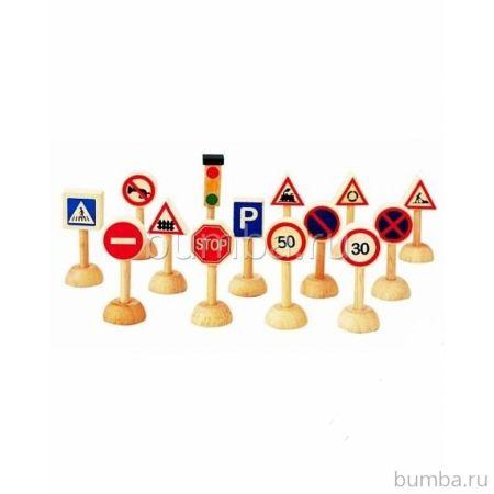 Развивающая игрушка PlanToys Дорожные знаки